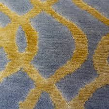 gold silver blue gray modern indian rug with organic geometric