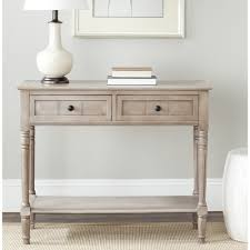 robinwood 3 drawer console table as vanity safavieh cape cod grey 2 drawer console table