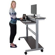 standing computer desk amazon standing computer desk brilliant amazon com 32 mobile ergonomic