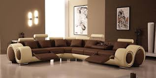 canap d angle cuir marron deco in canape d angle cuir marron et beige appuies tetes