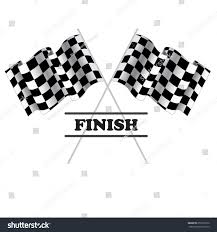 Checkered Flag Eps Checkered Flag Racing Isolated On White Stock Vector 252910972