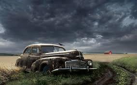 rusty car white background abandoned rusty classic car in a field hd desktop wallpaper