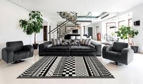 tappeti moderni bianchi e neri tappeto nero e bianco idee per la casa
