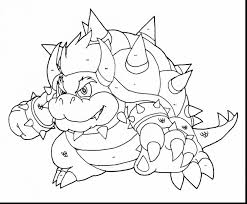 impressive mario bowser coloring pages bowser coloring pages