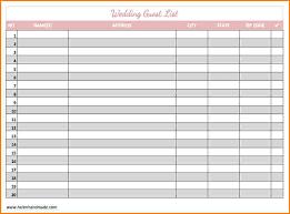 Wedding Guest List Excel Template 7 Wedding Guest List Organizer Wedding Spreadsheet