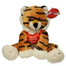 valentines day stuffed animals sitting position stuffed tiger s plush with