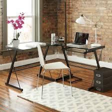 Mezza L Shaped Desk Walker Edison 3 Piece Imperial Desk Black W Clear Glass D51z29