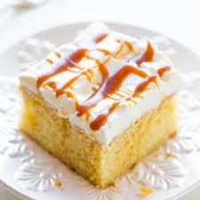 caramel cream poke cake averie cooks