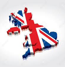 3d uk british flag map royalty free cliparts vectors and stock