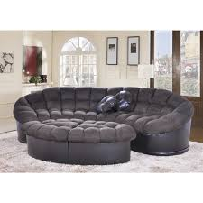 Papasan Ottoman Diana 4 Chocolate Papasan Modern Microfiber Sofa And Ottoman