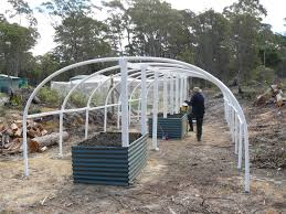 building our poly tunnel greenhouse banksia hollow