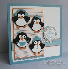 222 best penguin cards images on winter cards cards