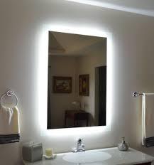Vanity Bathroom Mirrors Wall Mounted Lighted Vanity Mirror Modern Bathroom Bathroom