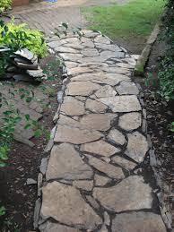 Backyard Walkway Ideas by Rock Walkways Ideas Alternative Building Construction In