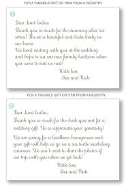 wedding gift thank you notes how to write wedding thank you notes for wedding gifts don t