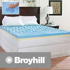 sensura gel enhanced 4 inch memory foam mattress topper broyhill