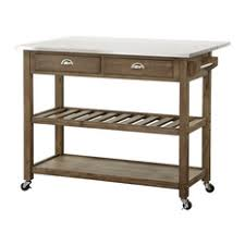 Oasis Island Kitchen Cart Farmhouse Kitchen Islands And Carts Houzz