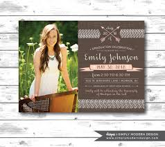 Graduation Party Invitation Card Graduation Announcement Or Invitation Rustic Graduation