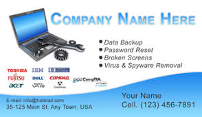 E Business Cards Free Computer Business Cards