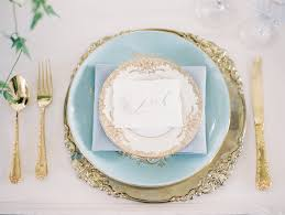 place settings wedding trends gold flatware at reception table settings inside