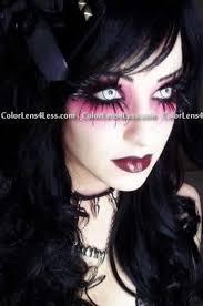 white manson crazy halloween contacts pair wm 29 99
