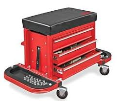 Amazon Com Uline Rolling Tool Chest Seat In Red Home Improvement