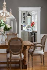 dark dining room chandeliers traditional style brown varnish long