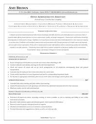 office assistant resume examples administration example template