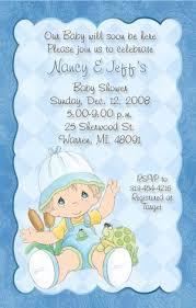 blue paisley precious moments baby shower invitations