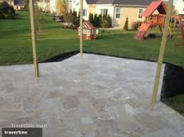 Pavers In Backyard by From The Garden To The Patio Travertine Pavers Will Elevate Your