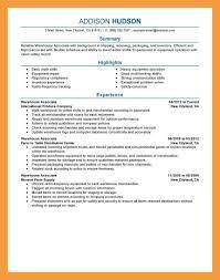 Resume For Warehouse Associate Resume Objective Warehouse Eliolera Com