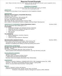 Hotel Resume Examples by Hospitality Resume Free Hospitality Intern Resume Example