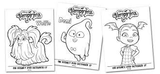 free vampirina coloring pages activity sheets simply today
