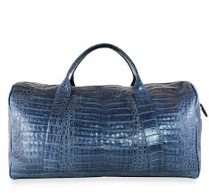 mens travel bag images Alligator bag blue luxury mens travel bags and accessories by jpg