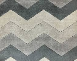 Gray Velvet Upholstery Fabric Gray Chevron Upholstery Materials Fabric Etsy Studio