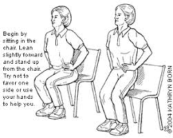 Chair Squat Exercise For The Elderly American Family Physician