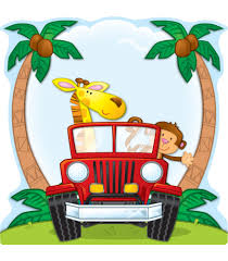safari jeep cartoon jungle safari two sided decoration workbooks u0026 teacher supplies