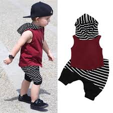 toddler baby boy hooded vest tops shorts 2pcs