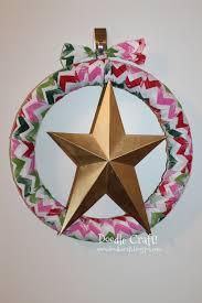 doodlecraft christmas in july chevron star wreath