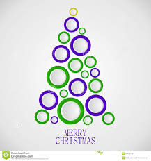 christmas tree circles illustration stock illustration image