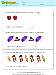 thanksgiving count apple worksheet turtle diary