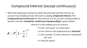 Compound Interest Worksheets Continuous Compound Interest Equation Jennarocca