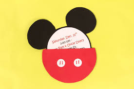 a diy mickey mouse party invitation idea for a mickey party jam blog
