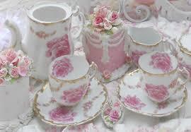 roses tea set s home garden tea party