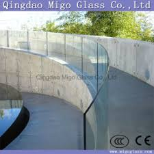 Frameless Glass Handrail China Bent Tempered Glass With Polished Edges For Frameless Glass