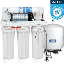 apec ultimate reverse osmosis system with booster pump 45 gpd ro pump electric pumped reverse osmosis drinking water system for international use