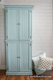 Curio Furniture Cabinet Chalk Painted Curio Cabinet Start At Home Decor