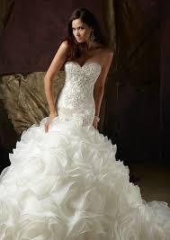 mermaid wedding diamante beaded net and organza wedding dress style 1241 morilee