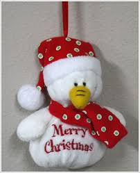 plush snowman sayings ornament