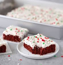 red velvet brownies with marshmallow cream cheese frosting the